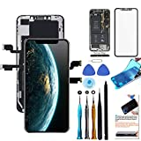 for iPhone Xs Max Screen Replacement 6.5 inch LCD Touch Screen Display Digitizer Repair Kit Assembly with Complete Repair Tools