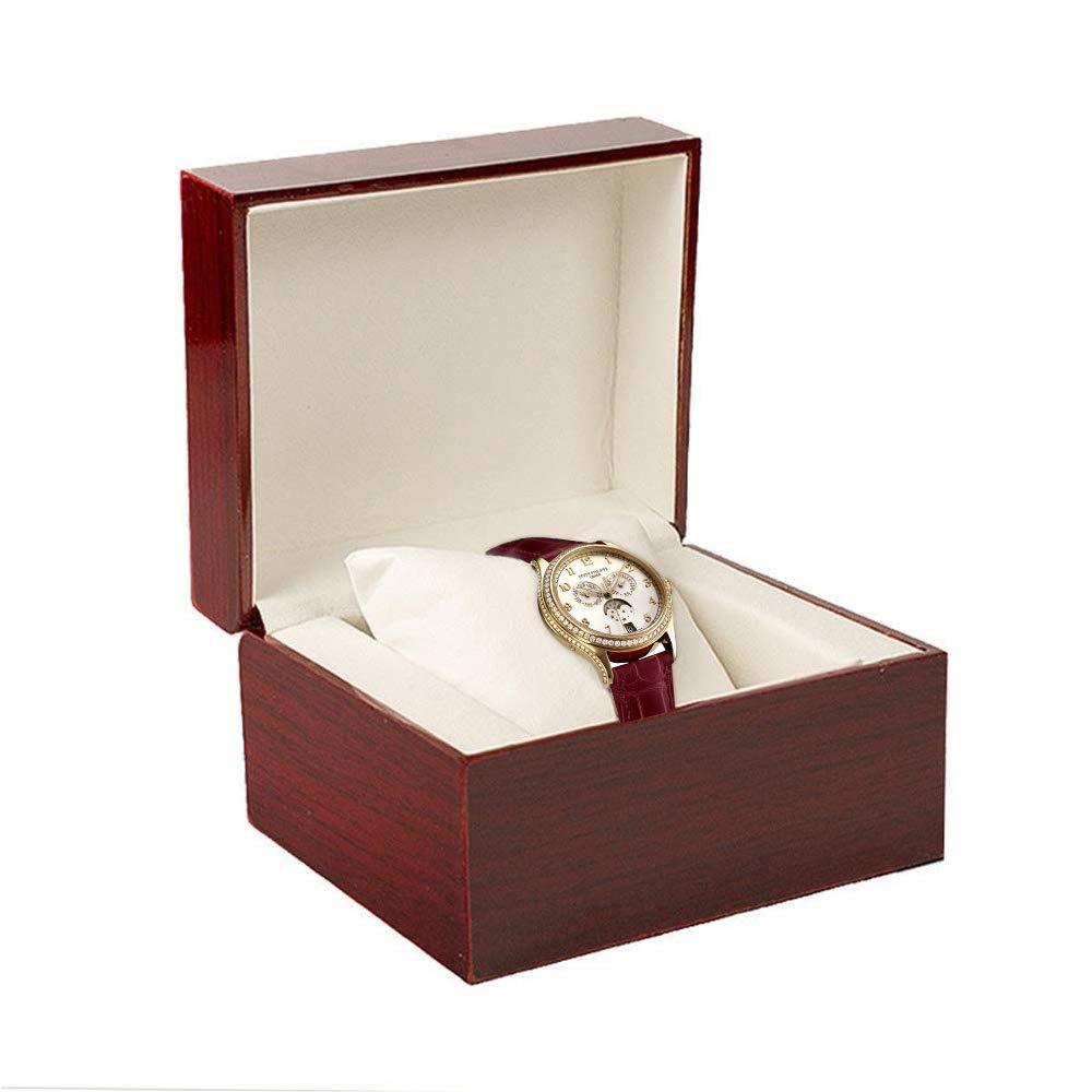 Estuche para Relojes,GossipBoy Premium Brillante de Madera Reloj de Pulsera/Brazalete Caja Almohada Estuches para Relojes gran Regalo de Cumpleaños Party Regalo: Amazon.es: Hogar