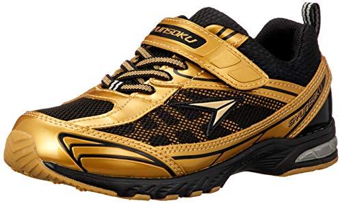 [シュンソク] スニーカー 運動靴 防水 軽量 17~26cm 2E キッズ 男の子 女の子 SJJ 4910 ゴールド 20 cm