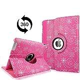 Cellularvilla Apple Ipad2 Ipad3 Ipad4 Gen Genration Pink Glitter 360 Degree Rotating Flip Folio Case Cover with Auto Sleep/wake Feature Stand