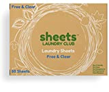 Laundry Detergent Sheets Scent Free Ultra Concentrated Eco-Friendly Plastic-Free Great on Workout Clothes More Cleaning Power Than Eco-Strips and Pods 50 Loads Compostable Earth Friendly
