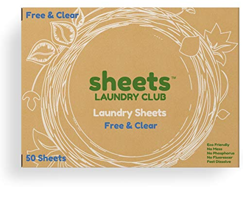 Up to 100 Loads of Liquidless Laundry Detergent Sheets Fragrance Free Plastic...