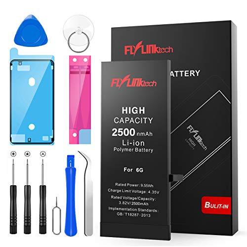 Batería para iPhone 6 2500mAH con 38% más de Capacidad Que la batería Origina, FLYLINKTECH Reemplazo de Alta Capacidad Batería para iPhone 6 con Kits de Herramientas de reparación, Cinta Adhesiva