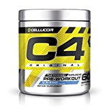 C4 Original Pre Workout Powder ICY Blue Razz| Vitamin C for Immune Support | Sugar Free Preworkout Energy for Men & Women | 150mg Caffeine + Beta Alanine + Creatine | 60 Servings