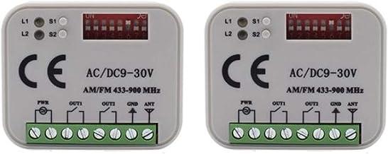 cherrypop 2 Stks RX MULTI 300-900MHZ AC 9-30V Ontvanger Set voor BENINCA BERNER HORMANN MGARANC Afstandsbediening 433 Mhz