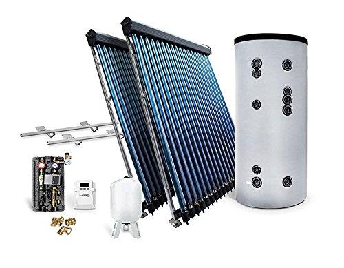 Solar-Paket Röhrenkollektor HP22 für Schrägdach mit Brauchwasserspeicher 400 L, 7,22 m²