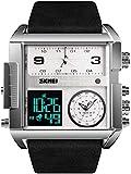 JSL Los hombres s cuadrado gran esfera reloj correa dominante cuarzo reloj de los hombres de negocios s reloj electrónico-3