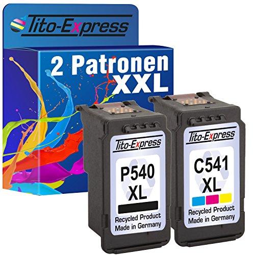 Tito-Express PlatinumSerie Set 2 Patronen kompatibel mit Canon PG-540 XL & CL-541 XL | Für Canon MG2140 MG2150 MG2250 MG3140 MG3150 MG3250 MG4140 MG4250 MX375 MX395 MX435 MX455 MX515 MX548