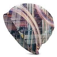 ニット帽 春 夏 帽子 ソフトガーゼ ロールアップワッチ ビーニー ニットキャップ 近代都市の概念の交差点 オールシーズン ストレッチ性抜群 柔らかい 男女兼用