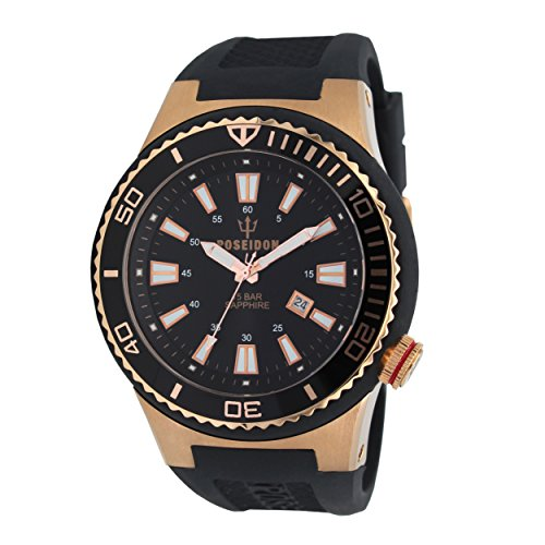POSEIDON by KIENZLE XL Uhr Analog mit Silikon Armband UP00608