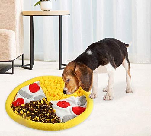 Queta Alfombra para Olfatear Perros,Mantas Olfativas para Perros,Almohadilla para olfatear Mascotas,Mantas Olfativas Lavable Plegable para Perros,Juguetes Interactivos para Perros (Pizza)