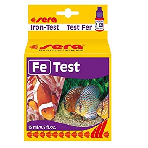 sera 04610 Eisen Test (Fe), Wassertest für ca. 75 Messungen, misst zuverlässig und genau den Eisengehalt, für Süß-...