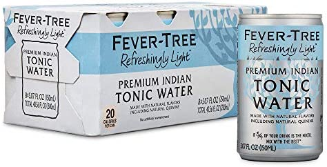 Fever Tree Tonic Water Cans No Artificial Sweeteners Flavorings Preservatives Refreshingly Light product image