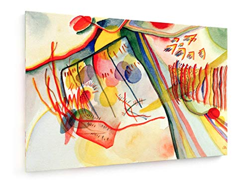 Wassily Kandinsky - Komposition - 30x20 cm - Textil-Leinwandbild auf Keilrahmen - Wand-Bild - Kunst, Gemälde, Foto, Bild auf Leinwand - Alte Meister/Museum