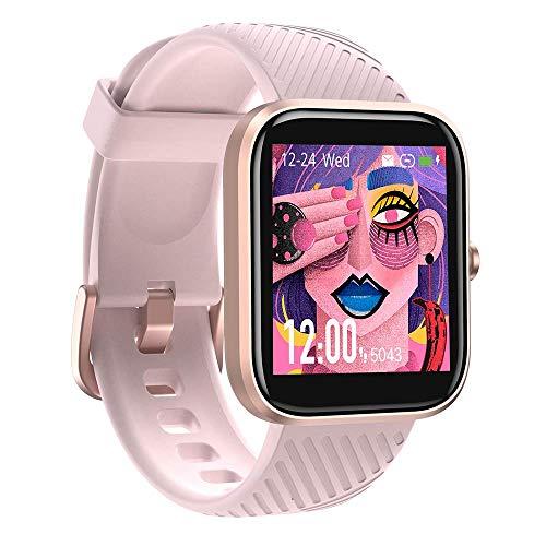 Reloj inteligente, VT3 Fitness Tracker con monitor de frecuencia cardíaca, medidor de oxígeno en sangre, contador de pasos, IP68 impermeable podómetro smartwatch para hombres y mujeres