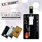 E.T. INSIDE 3 Pcs 16GB Memoria USB Tarjeta de Crédito USB Flash Pen Drives Impermeable American Express