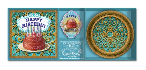 Studio Oh! Dessert Plates, Napkins and Cupcake Toppers Celebration Kit, Birthday Wishes