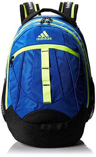 adidas Hickory Backpack, Power Blue/Solar Yellow, 19 x 14 x 11-Inch