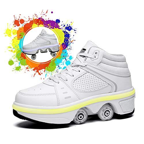 Zapatos con Ruedas para Niños Y Niña Led Luces, Zapatos Multiusos 2...