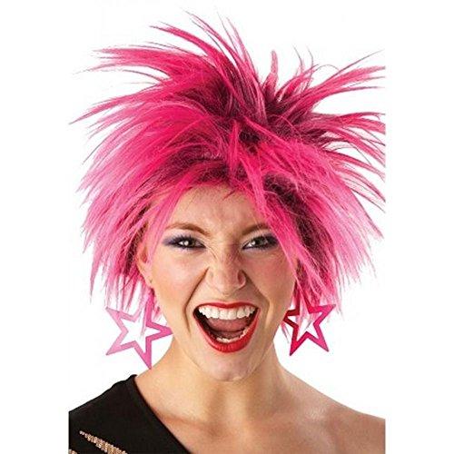 Rubies Officielle Mesdames années 80 Rose Punk Perruque Adulte (Taille Unique)