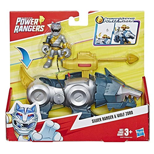 Power Rangers Heroes Silver Ranger und Wolf Zord 2er-Pack