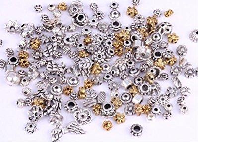 ILOVEDIY 45g Perles en Strass d'argent Compatibles avec les Bracelets de Européens (#17-90Pcs)