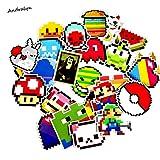 25 unids/Lote de Dibujos Animados Mario Pixel Estilo Pegatina para Coche portátil Equipaje monopatín Mochila Tablas Funda calcomanía niños Juguete Pegatina