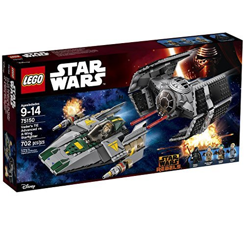 Vader's TIE Advanced vs. A-Wing Starfighter 75150 by LEGO