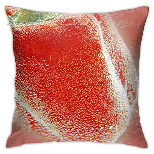 Funda de Cojine Throw Pillow Case, Underwater Pepper with Bubbles Pillow Cover, Cojín decorativo de almohada Cojines 45X45CM
