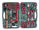 suki 1800652 Werkzeugkoffer 81-teilig, schwarz, Stück