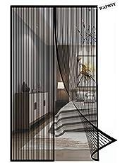 Magnetisch vliegengaas, deur, insectenbescherming, het magneetgordijn is ideaal voor balkondeur, kelderdeur en terrasdeur, woonkamer schuifdeur