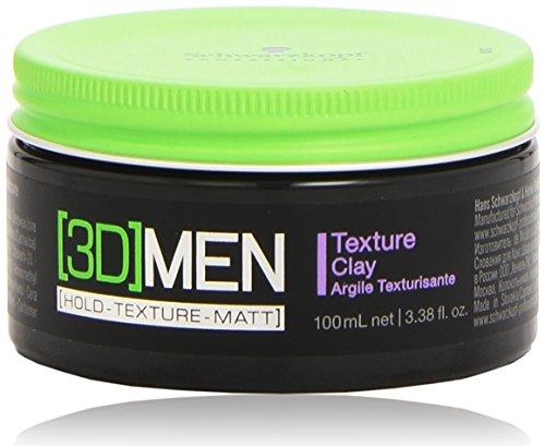 Schwarzkopf 3D Men -  Cera para cabello, hombre, 100ml
