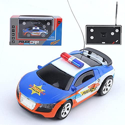 WZRYBHSD Drift RC Racing Coche De Control Remoto Mini Coche De Policía Juguete Para Niño Niños Niña Recargable USB Vehículo Recargable Para Interiores Para Niños Pequeños Niños Regalo De Cumpleaños De