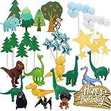 Dinosaur Cake Topper Set , Handmade Party Cake Decoration Supplies, Wedding, Birthday, Party, Dinosaur Suit Birthday Cake Decor