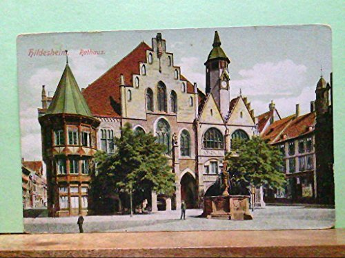 AK Hildesheim, Rathaus, Brunnen, Personen, Gebäudeansicht.