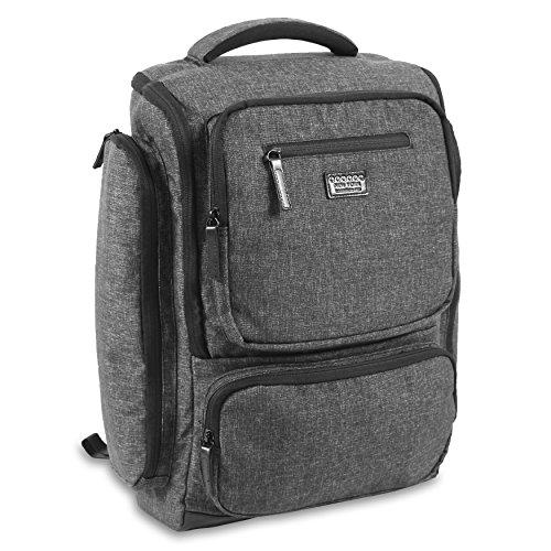 J World New York Novel Laptop Backpack, Black, One Size