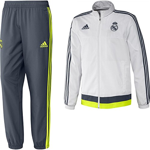 adidas Real Madrid Presentation Chándal, Hombre, Multicolor (Top:White/Deepest Space F10 / Solar Yellow Bottom:Deepest Space F10 / Solar Yellow), XXL