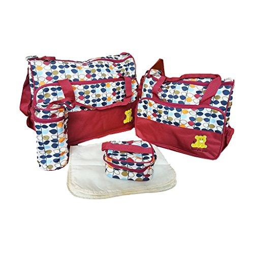IPOTCH Bolso de Pañal Bolsa de Viaje Fulares Portabebés Productos de Regalo de Mesa Comedor Viaje - Rojo