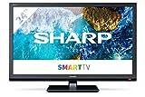 Sharp Aquos 24BC0E-Televisor Smart TV de 24'-24 Pulgadas HD WiFi (resolución 1368 x 720, 2 x HDMI, 2 x USB) Color Negro, 1T-C24BC0ER2NB
