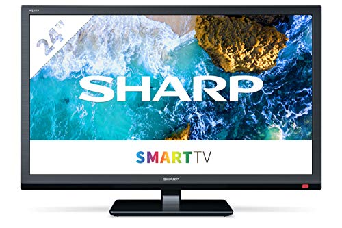 "Sharp Aquos 24BC0E-Televisor Smart TV de 24""-24 Pulgadas HD WiFi (resolución 1368 x 720, 2 x HDMI, 2 x USB) Color Negro, 1T-C24BC0ER2NB"