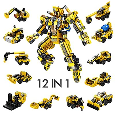 CMaster Robot STEM Toy 12-in-1 Robot Tight Fit and Compatible with All Major Brands 576 PCS DIY Building Science Experiment Kit for Kids Aged 6 Years Old or Older?Ideal Gift for Kids from CMaster