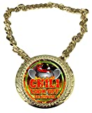 Express Medals Chili Cookoff Cooking Champ Chain Trophy Award with a Center Plaque Plate Measuring 6 by 5.25 Inches and Includes a 34 Inch Chain with Black Velvet Presentation Bag.