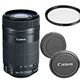 Canon EF-S 55-250mm f/4-5.6 IS STM Telephoto Zoom Lens for Canon DSLR Cameras (Renewed)