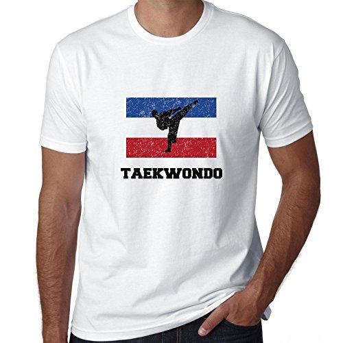 Joegoslavië Olympisch - Taekwondo - Vlag - Silhouette Heren T-shirt