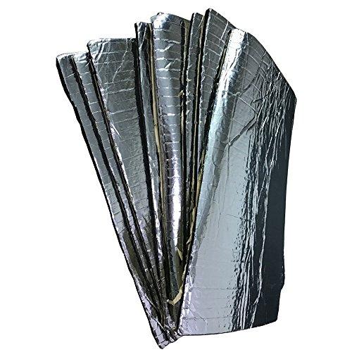 Supmico 6 X auto insonorizzazione isolamento fonoassorbente chiuso Antirombo Antivibrante Fibra di vetro Adesivo Stuoia 10MM 30cm X 50cm