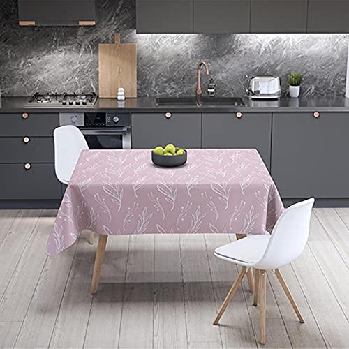 Paño de mesa, flor geométrica de tela impermeable de la tabla de la estera de mesa de escritorio de la mesa de café cubierta de tela de la