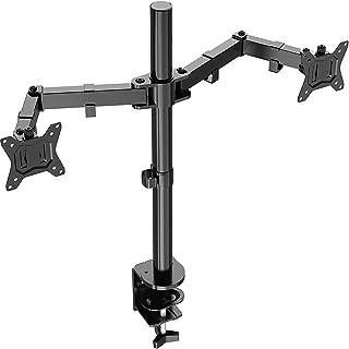 """ErGear Dubbele Monitorstandaard voor 13""""- 32"""" Groot Scherm met Stevige Constructie Ergonomische Monitorarm in Hoogte Verst..."""