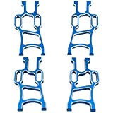 Hobbypark Front & Rear Aluminum Suspension Arms for 1/10 Redcat Volcano Epx RC Monster Truck Upgrade Parts,Replacement of 08055 108819 08056 108821 (4-Pack) (Blue)