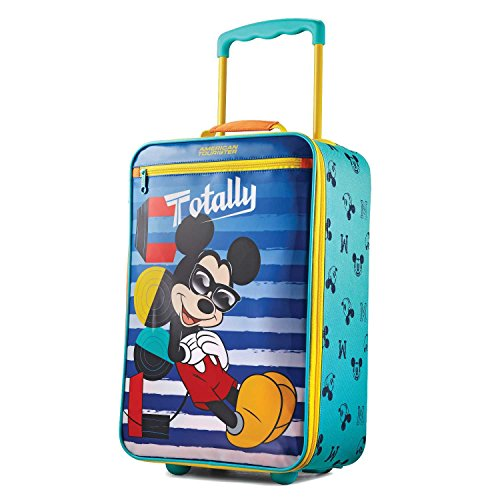 Durable 10 Yr Guarantee Vinyl and Polyester Mickey Mouse Kids Luggage