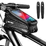 """CHYBFU Borsa Telaio Bici, Impermeabile Borsa da Manubrio per Biciclette, Touch Scree Porta Telefono MTB Borsa Porta Cellulare Bici Borse Biciclette per Android/iPhone XS/X/Samsung S9/S8 Fino a 6,5"""""""